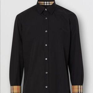 Men's Burberry Button Down Black Dress Shirt👔